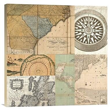 East Urban Home Cahiers De Voyage Iv' Print on Canvas; 24'' H x 24'' W x 1.5'' D