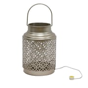 Bloomsbury Market Chastain Outdoor LED Lantern; Gold