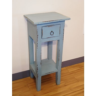Darby Home Co Iyana End Table; Blue