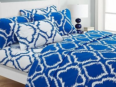 Varick Gallery Wallin 4 Piece Twin Sheet Set; Blue