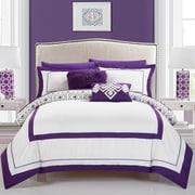 Mercer41  Angora 9 Piece Full Reversible Comforter Set; Purple