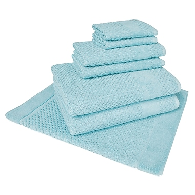 Darby Home Co Solid 7 Piece Towel Set; Steel Blue