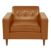Brayden Studio Potter Top Grain Leather Club Chair; Tan