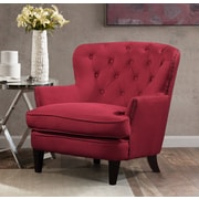 Charlton Home Collingdale Wood Frame Armchair; Claret Red