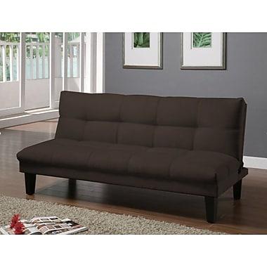 Winston Porter Elvia Futon Convertible Sofa; Earth