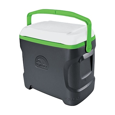 Igloo 30 Qt. Contour Cooler; Gray/White/Nuclear Green