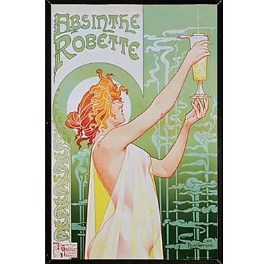 Latitude Run 'Absinthe Robette' Vertical Framed Graphic Art Print Poster; Black Framed