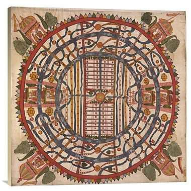 Manu?Yaloka, Map of the World of Man, According To Jain Cosmological Traditions' Print on Canvas