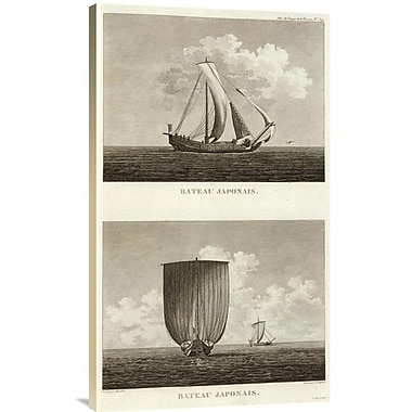 East Urban Home Bateau Japonais, 1797' Print on Canvas; 30'' H x 18'' W x 1.5'' D