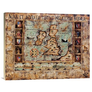 East Urban Home History of the World' Print on Canvas; 22'' H x 28'' W x 1.5'' D