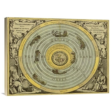 East Urban Home Maps of the Heavens: Planisphaerium Ptolemaicum' Print on Canvas