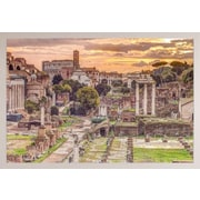 Red Barrel Studio 'Rome' Horizontal Framed Graphic Art Print Poster; White Framed