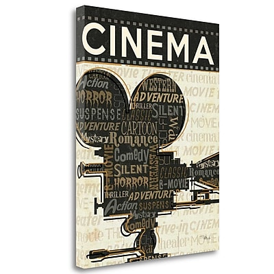 Tangletown Fine Art 'Cinema I' Vintage Advertisement on Wrapped Canvas; 24'' H x 20'' W