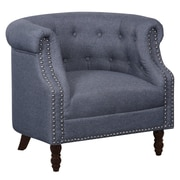 Alcott Hill Willisville Button Tufted Chesterfield Chair; Dark Gray