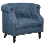 Alcott Hill Willisville Button Tufted Chesterfield Chair; Ocean Blue