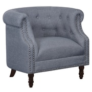 Alcott Hill Willisville Button Tufted Chesterfield Chair; Gray