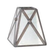 WorldsAway Antique Mirror 4'' Bell Candelabra Shade w/ Crosshatch Detail