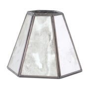 WorldsAway Antique Mirror Hexagonal 5.75'' Bell Candelabra Shade