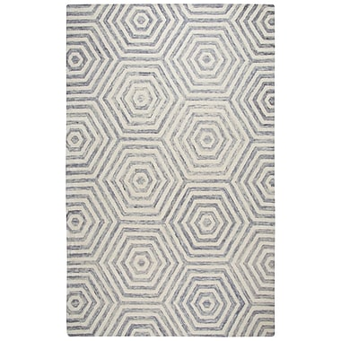 Corrigan Studio Malcolm Hand-Tufted Wool Light Gray Area Rug; Runner 2'6'' x 8'