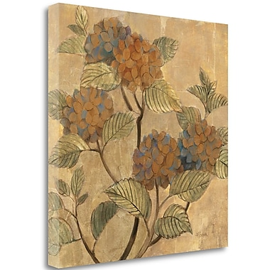 Tangletown Fine Art 'Golden Hydrangea' Print on Canvas; 18'' H x 18'' W