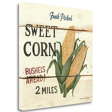 Tangletown Fine Art 'FreshPicked Sweet Corn' by David Carter Brown Graphic Art on Wrapped Canvas