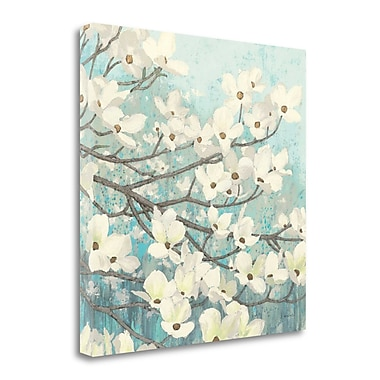 Tangletown Fine Art 'Dogwood Blossoms II' Print on Wrapped Canvas; 25'' H x 25'' W