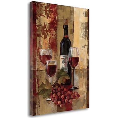 Tangletown Fine Art 'Graffiti and Wine II' Print on Canvas; 38'' H x 28'' W