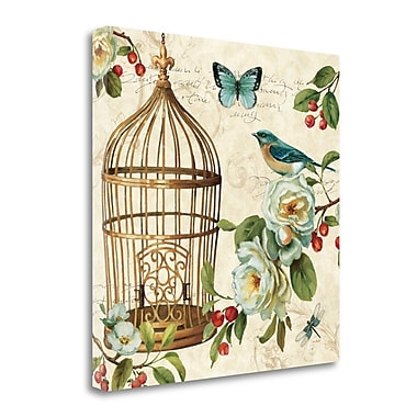 Tangletown Fine Art 'Free as a Bird II' Graphic Art Print on Wrapped Canvas; 35'' H x 35'' W