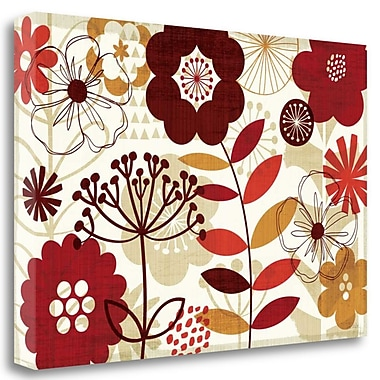 Tangletown Fine Art 'Floral Pop I' Graphic Art Print on Canvas; 16'' H x 24'' W