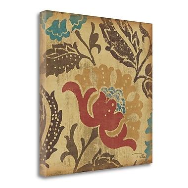 Tangletown Fine Art 'Estampes Floraux' Graphic Art Print on Wrapped Canvas; 20'' H x 20'' W