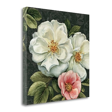 Tangletown Fine Art 'Floral Damask III' Print on Canvas; 25'' H x 25'' W