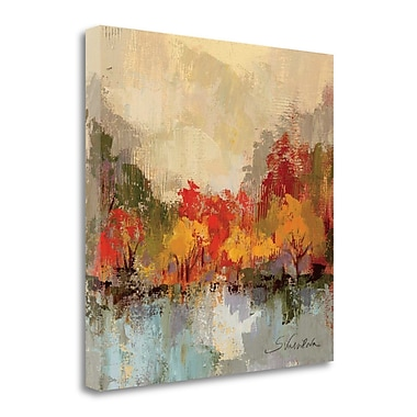 Tangletown Fine Art 'Fall Riverside II' by Silvia Vassileva Painting Print on Wrapped Canvas