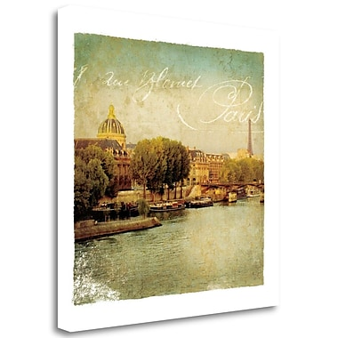 Tangletown Fine Art 'Golden Age of Paris V' by Wild Apple Portfolio Graphic Art on Wrapped Canvas