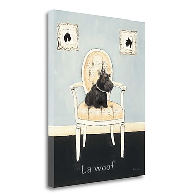 Tangletown Fine Art 'La Woof' by Emily Adams Painting Print on Wrapped Canvas; 28'' H x 22'' W