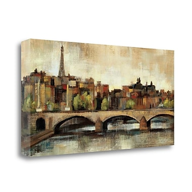 Tangletown Fine Art 'Paris Bridge I Spice' by Silvia Vassileva Painting Print on Wrapped Canvas