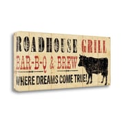 Tangletown Fine Art 'Roadhouse Grill' by Pela Studio Vintage Advertisement on Wrapped Canvas