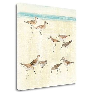 Tangletown Fine Art 'Sandpipers' Print on Wrapped Canvas; 30'' H x 30'' W