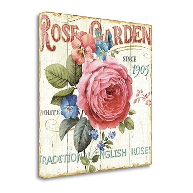 Tangletown Fine Art 'Rose Garden I' by Lisa Audit Graphic Art on Wrapped Canvas; 35'' H x 35'' W