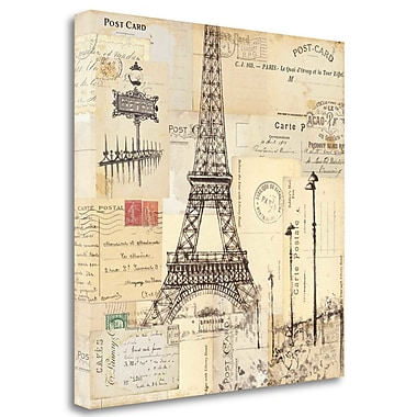 Tangletown Fine Art 'Paris Collage II' Graphic Art Print on Wrapped Canvas; 30'' H x 30'' W