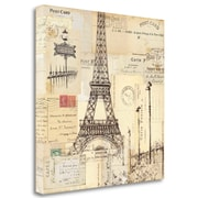 Tangletown Fine Art 'Paris Collage II' by Pela Studio Graphic Art on Wrapped Canvas; 20'' H x 20'' W