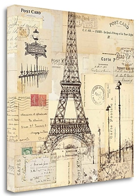Tangletown Fine Art 'Paris Collage II' by Pela Studio Graphic Art on Wrapped Canvas; 18'' H x 18'' W