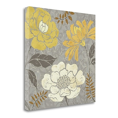 Tangletown Fine Art 'Morning Tones Gold II' Graphic Art Print on Wrapped Canvas; 20'' H x 20'' W