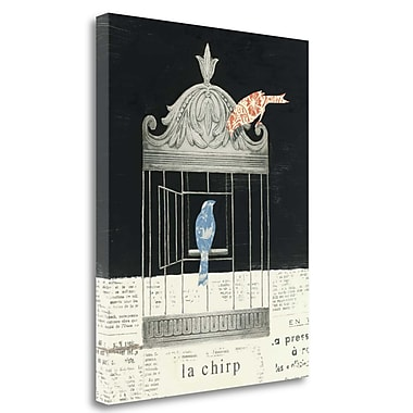 Tangletown Fine Art 'La Chirp' by Emily Adams Graphic Art on Wrapped Canvas; 28'' H x 22'' W