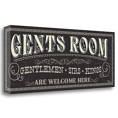 Tangletown Fine Art 'Ladies and Gents II' Textual Art on Wrapped Canvas; 16'' H x 40'' W