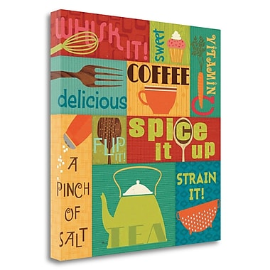 Tangletown Fine Art 'Kitchen It I' by Pela Studio Graphic Art on Wrapped Canvas; 24'' H x 24'' W