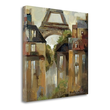 Tangletown Fine Art 'Paris - Late Summer I' by Silvia Vassileva Painting Print on Wrapped Canvas