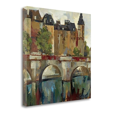 Tangletown Fine Art 'Paris - Late Summer II' by Silvia Vassileva Painting Print on Wrapped Canvas