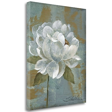 Tangletown Fine Art 'Peony Tile I Wag' Print on Wrapped Canvas; 23'' H x 18'' W