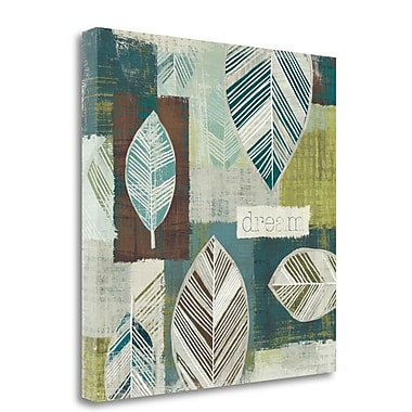 Tangletown Fine Art 'Be Leaves III' Graphic Art Print on Wrapped Canvas; 20'' H x 20'' W