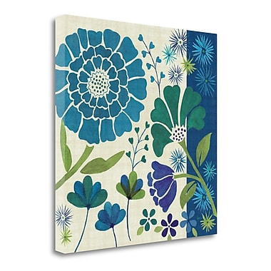 Tangletown Fine Art 'Blue Garden II' Graphic Art Print on Wrapped Canvas; 20'' H x 20'' W